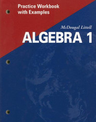 Algebra 1: Practice Workbook with Examples