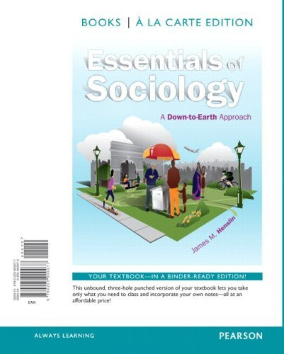 Essentials Of Sociology A Down-To-Earth Approach