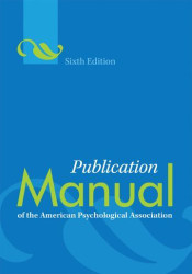 Publication Manual   Of The American Psychological Assoc.