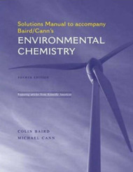 Solutions Manual For Environmental Chemistry