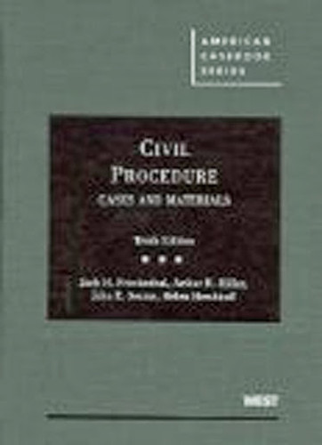 Civil Procedure Cases And Materials