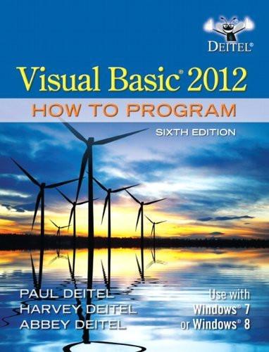 Visual Basic 2012 How To Program