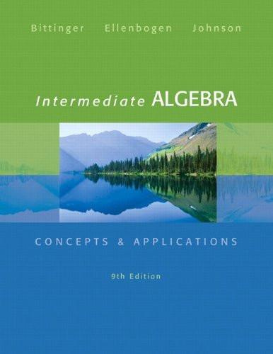Intermediate Algebra Concepts And Applications