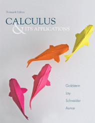 Calculus And Its Applications by Larry J. Goldstein