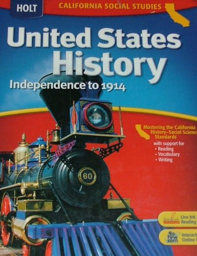 United States History California Student Edition Grades 6-8 Beginnings To 1914