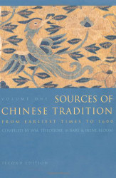 Sources Of Chinese Tradition Volume 1