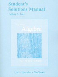 Student's Solutions Manual for Beginning Algebra