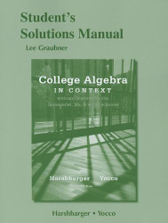 Student's Solutions Manual for College Algebra in Context