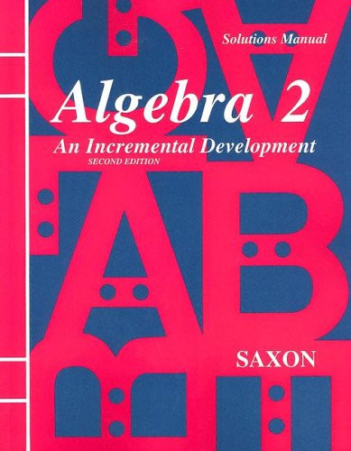Solutions Manual For Algebra 2