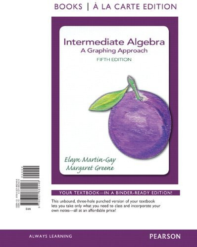 Intermediate Algebra A Graphing Approach