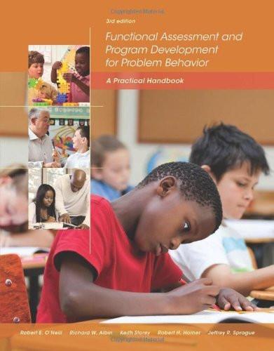 Functional Assessment And Program Development For Problem Behavior