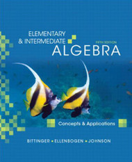 Elementary And Intermediate Algebra Concepts And Applications