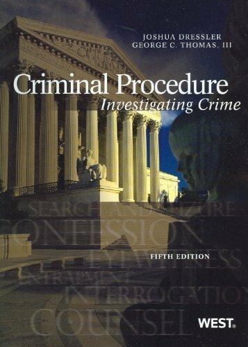 Criminal Procedure Investigating Crime