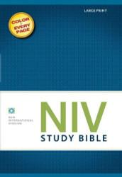 Niv Study Bible Large Print by Zondervan