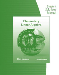 Student Solutions Manual for Elementary Linear Algebra