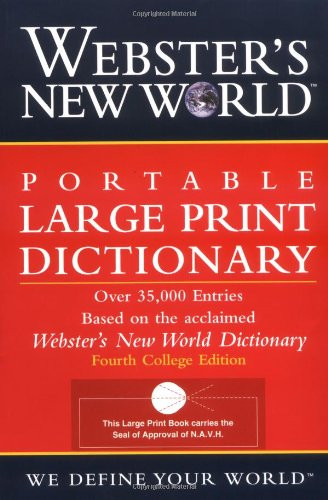 Webster's New World Portable Large Print Dictionary
