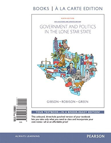 Government And Politics In The Lone Star State