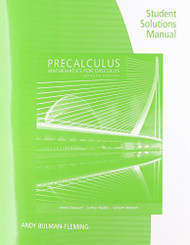 Student Solutions Manual For Stewart/Redlin/Watson's Precalculus