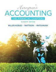 Horngren's Accounting The Financial Chapters