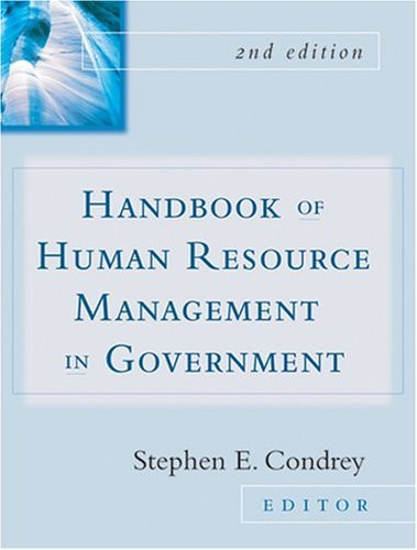 Handbook Of Human Resources Management In Government By