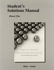 Student's Solutions Manual for Statistics for Business