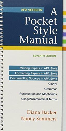 Pocket Style Manual Apa Version