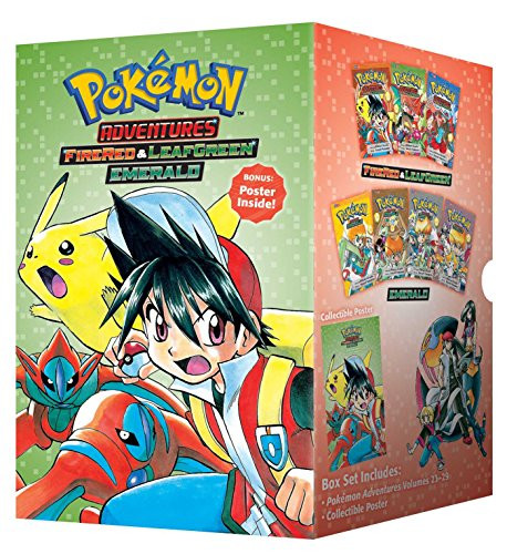 Pokemon Adventures Fire Red and Leaf Green / Emerald Box Set Includes Volumes