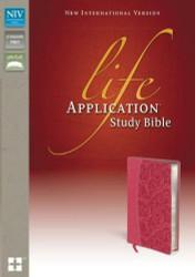 NIV Life Application Study Bible Imitation Leather Pink