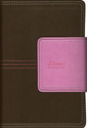 NIV Women's Devotional Bible Compact Imitation Leather Brown/Pink