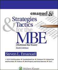 Strategies And Tactics For The MBE Multistate Bar Exam
