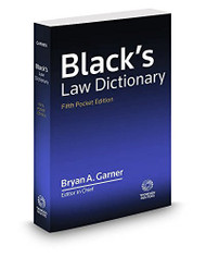 Black's Law Dictionary Pocket Edition