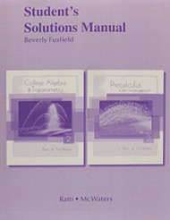 Student Solutions Manual For College Algebra And Trigonometry/Precalculus