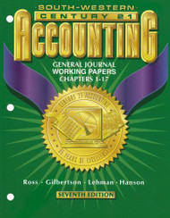 Working Papers Chapters 1-17 For Gilbertson/Lehman/Gentene's Century 21 Accounting