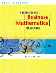 Contemporary Business Mathematics For Colleges Brief