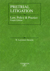 Pretrial Litigation Law Policy And Practice