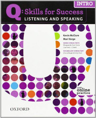 Q Skills For Success Listening And Speaking Intro Student Book With Student