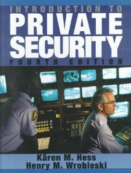 Introduction To Private Security by K??æren M Hess