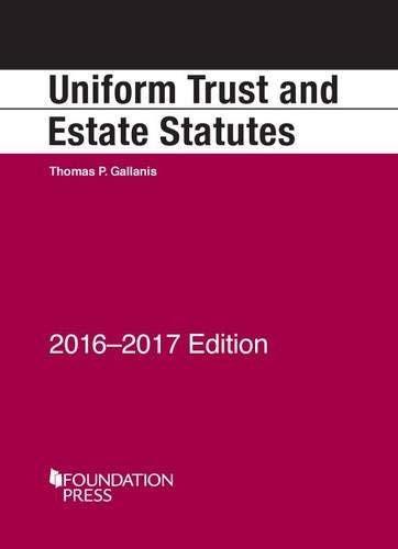Uniform Trust and Estate Statutes