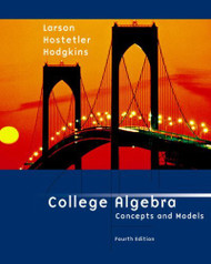 College Algebra Concepts And Models
