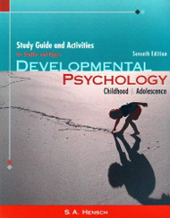Study Guide For Shaffer/Kipp's Developmental Psychology