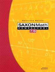 Saxon Math 7/6 Homeschool Edition