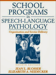 School Programs In Speech-Language Pathology