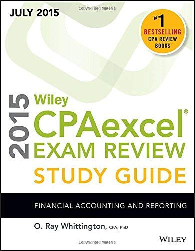 Wiley CPAexcel Exam Review 2016 Study Guide January: Financial Accounting and Reporting