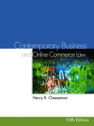 Contemporary Business And Online Commerce Law