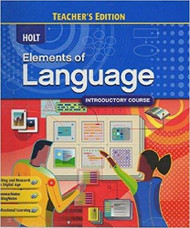 Elements Of Language Introductory Course Grade 6 Teacher's Edition