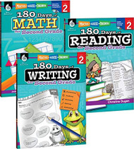 180 Days of Reading Writing and Math for Second Grade 3-Book Set