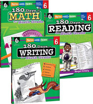 180 Days of Reading Writing and Math for Sixth Grade 3-Book Set