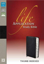 NIV Life Application Study Bible Bonded Leather Black Indexed Red Letter