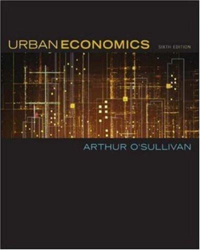 urban economics o sullivan pdf