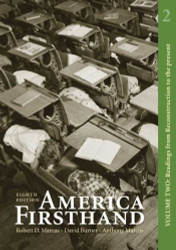 America Firsthand Volume Two
